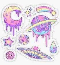 Pastell-Galaxie Transparenter Sticker