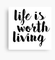 Life is Worth Living - Justin Bieber Canvas Print