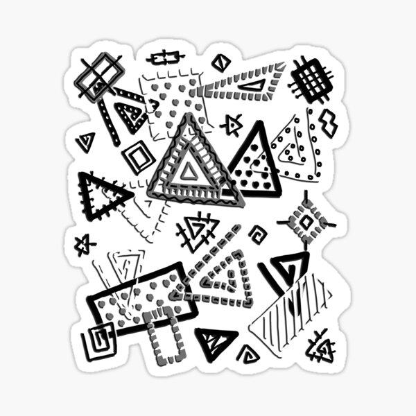 Geometría artística Pegatina