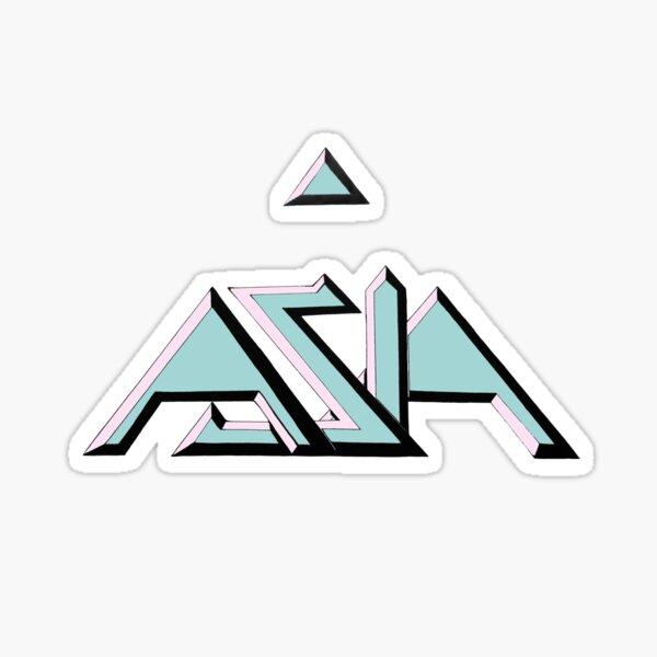 Asia 80s Colors Sticker