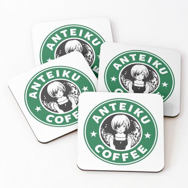 Anteiku Café Logo, Tokyo Ghoul Starbucks Parody - Touka Version Coasters (Set of 4)