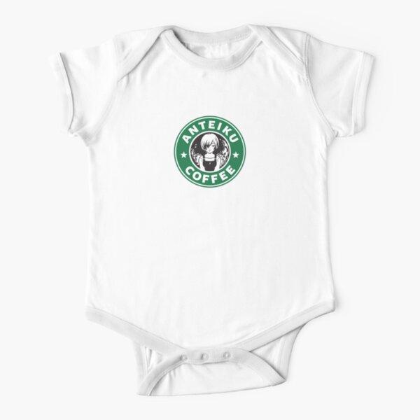Anteiku Café Logo, Tokyo Ghoul Starbucks Parody - Touka Version Short Sleeve Baby One-Piece