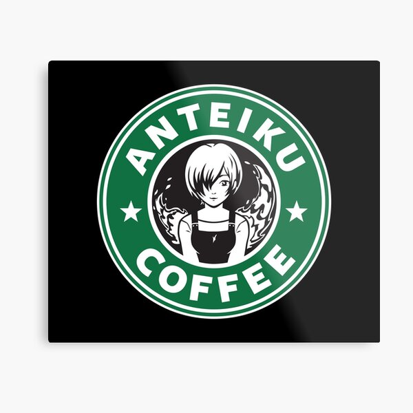 Anteiku Café Logo, Tokyo Ghoul Starbucks Parody - Touka Version Metal Print