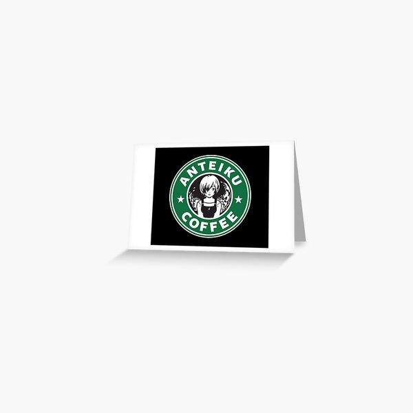 Anteiku Café Logo, Tokyo Ghoul Starbucks Parody - Touka Version Greeting Card