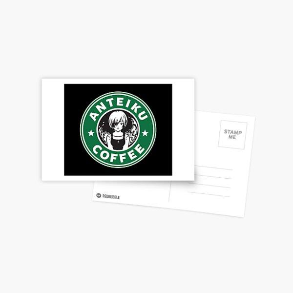 Anteiku Café Logo, Tokyo Ghoul Starbucks Parody - Touka Version Postcard