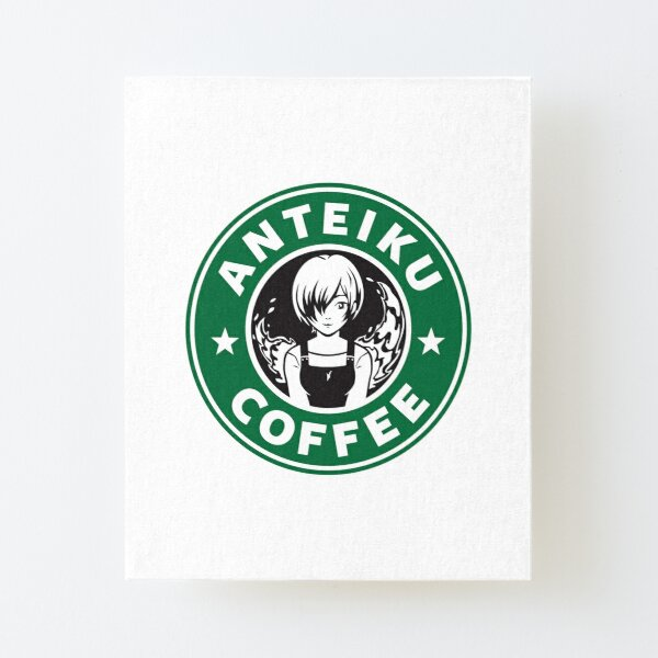 Anteiku Café Logo, Tokyo Ghoul Starbucks Parody - Touka Version Canvas Mounted Print
