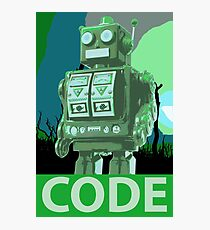 CODE Green Robot Photographic Print