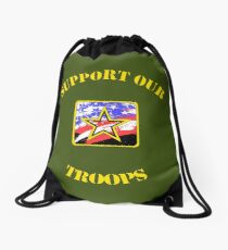 Support our troops! Drawstring Bag
