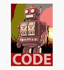 CODE Red Robot Photographic Print