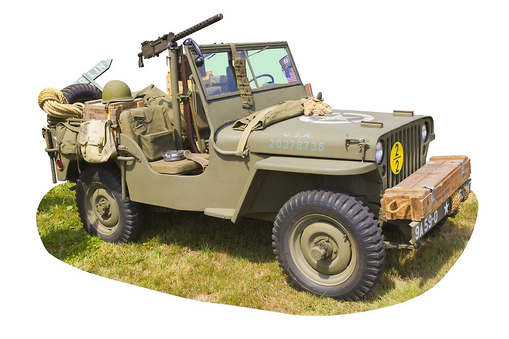 Willys World War Two Army Jeep by KWJphotoart