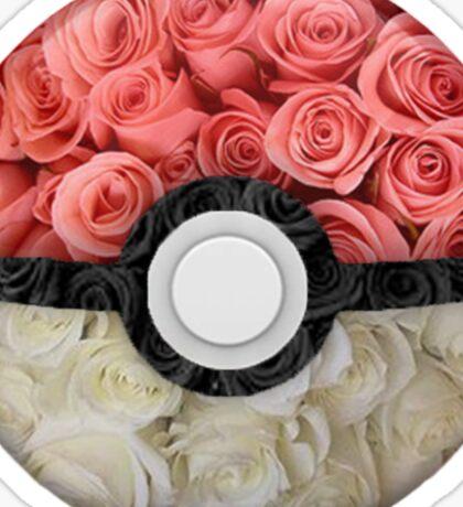 Floral Pokéball Sticker