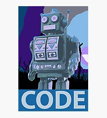 CODE Blue Robot Photographic Print