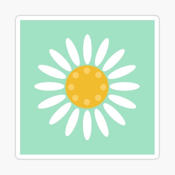 Daisy mint Sticker