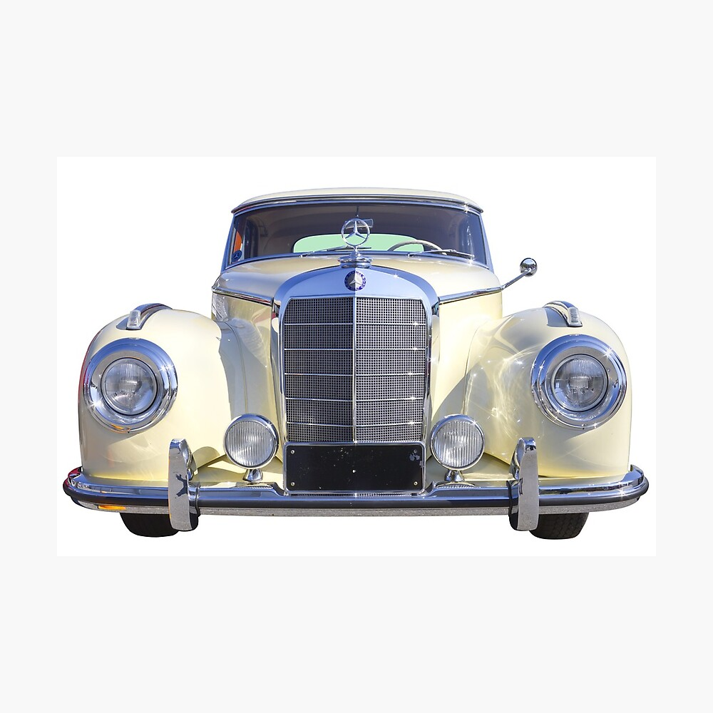 White Mercedes Benz 300 Luxury Car Poster By Kwjphotoart Redbubble