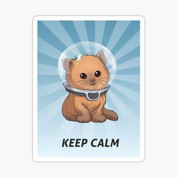 keep calm kitty, keep calm, subnautica, zzn Sticker
