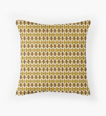 Brown ten pin bowling pin pattern  Throw Pillow