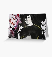 Bruce Lee Greeting Card