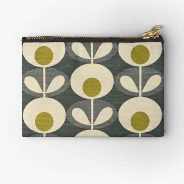 retro flowers design  Zipper Pouch