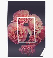 The 1975 Floral Rectangle Poster