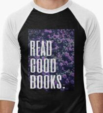 Read Good Books Men's Baseball ¾ T-Shirt