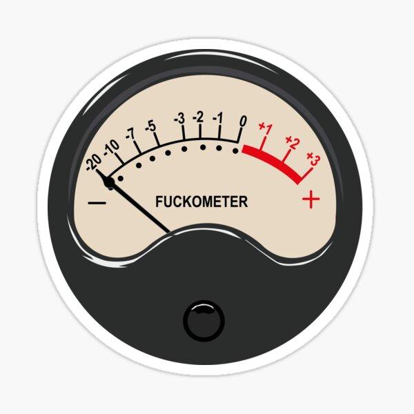 Fuckometer Sticker