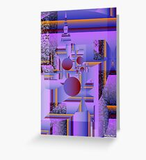 Abstract X Greeting Card