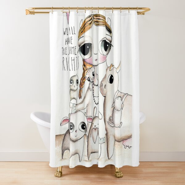 Animal right Shower Curtain