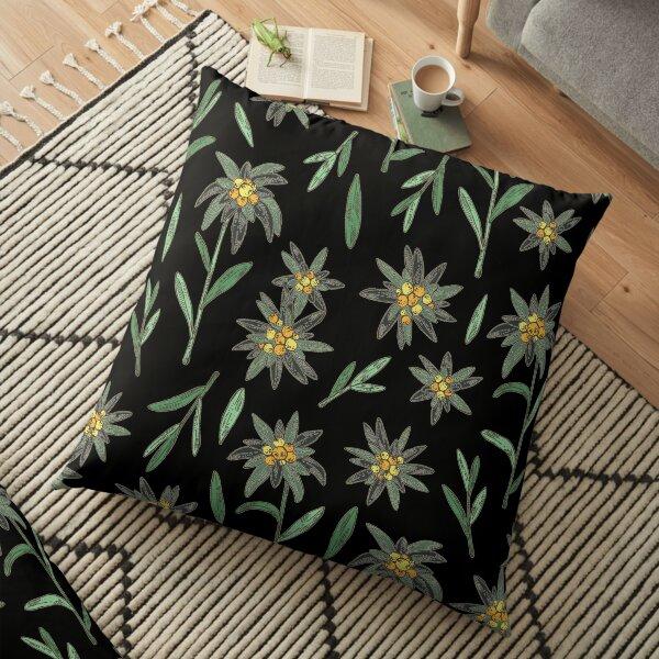 Edelweiss Blumenmuster Bodenkissen