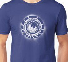 Battlestar Galactica Grunge - Dark Blue and White Unisex T-Shirt