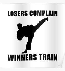 Martial Arts Winners Train Poster