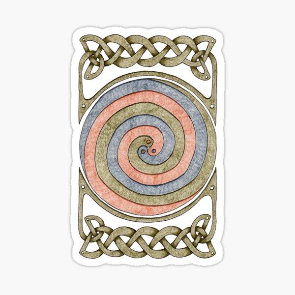 Celtic Spirals and Border - Earth Tones Sticker