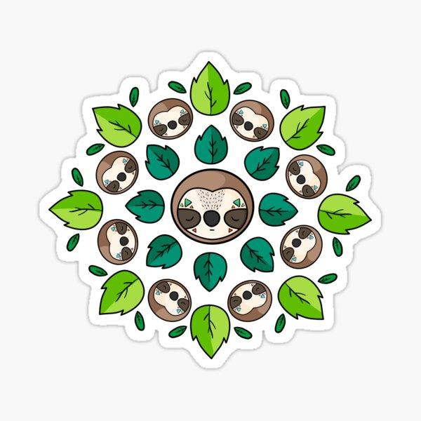 Mandala Sloth Glossy Sticker