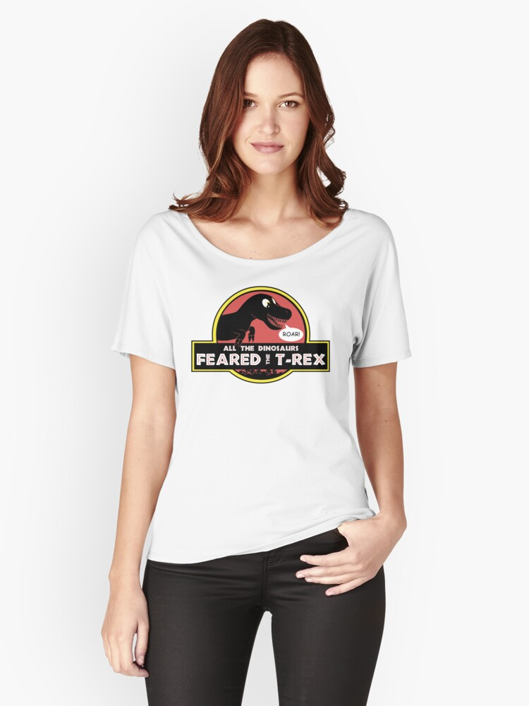 Camiseta ancha para mujer «Derby T-Rex» de baggss  294ce0069a14c