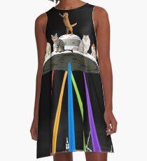 CAT-INVADER A-Linien Kleid