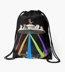 CAT INVADERS Drawstring Bag