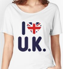 I love UK Women's Relaxed Fit T-Shirt
