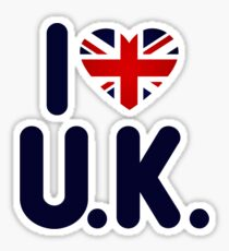 I love UK Sticker