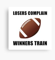Football Winners Train Canvas Print