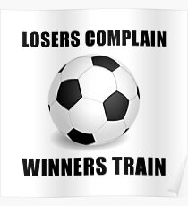 Soccer Winners Train Poster