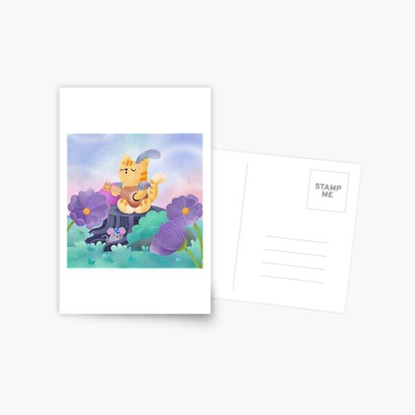 Cat bard Postcard