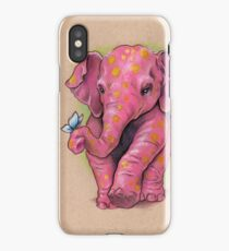 Pink Elephant (with golden spots) iPhone Case/Skin
