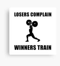 Weightlifting Winners Train Canvas Print