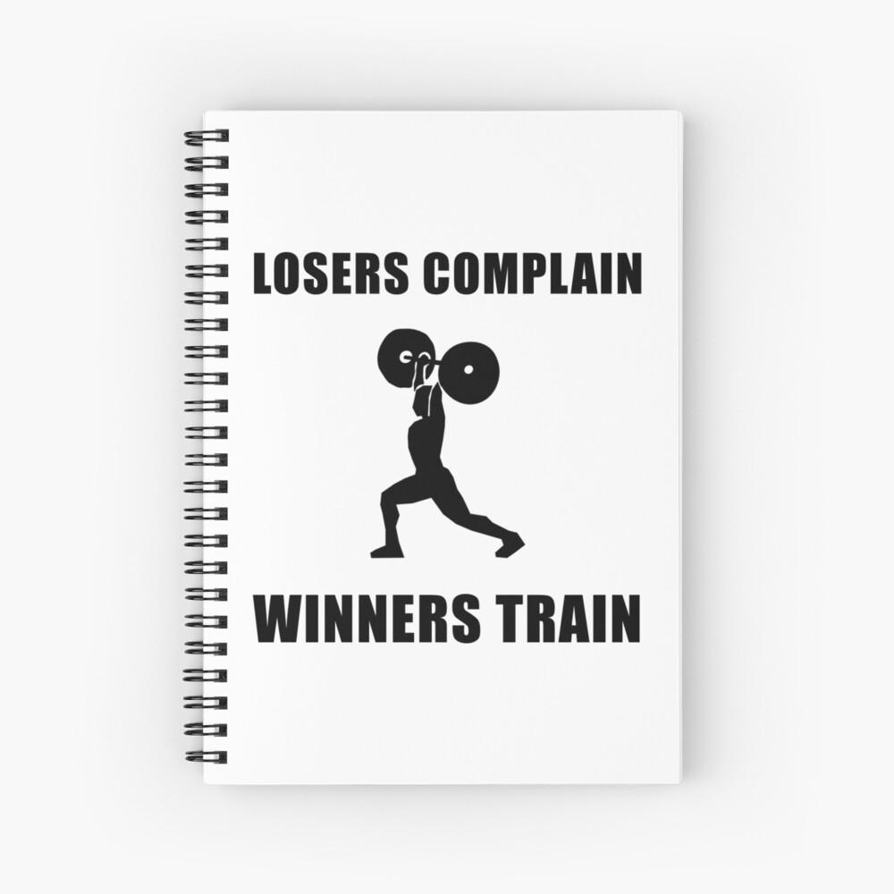 Gewichtheben Gewinner trainieren Spiralblock
