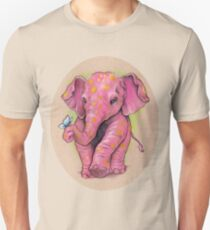 Pink Elephant (with golden spots) T-Shirt