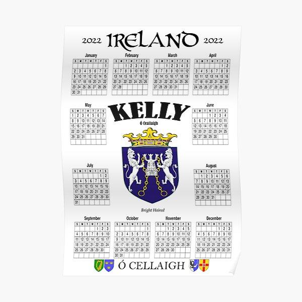 Irish Calendar 2022 - Ireland Kelly Family Poster
