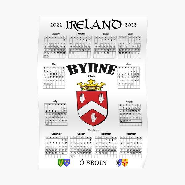 Irish Calendar 2022 - Ireland Byrne Family Poster