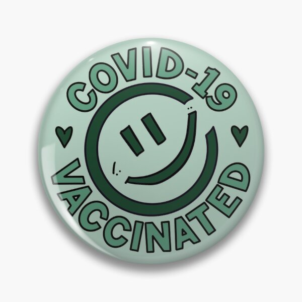 Smiley and Vaccinated (Green) Pin