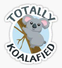 Totally Koalafied Funny Koala T Shirt Sticker