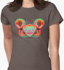 Infinite Possibilities - (Neon Infinity Flamingo) Womens Fitted T-Shirt