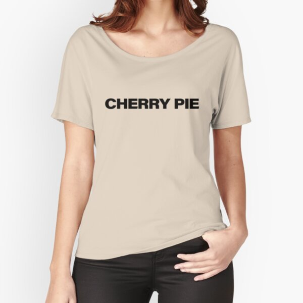 CHERRY PIE Black Relaxed Fit T-Shirt
